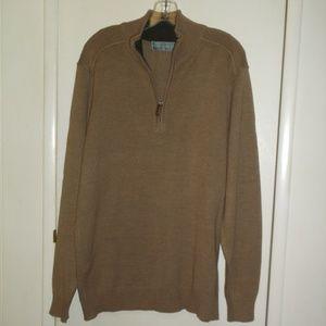 Oscar DE La Renta hently zip Front Long Sweater L
